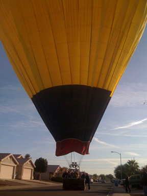 Unscheduled Landing-- Hot Air Balloon Ride in Scottsdale, AZ